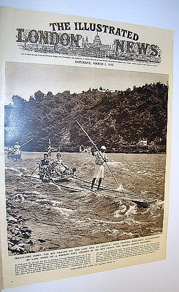 Image for The Illustrated London News (ILN) Magazine, March 5, 1955 -  Cover Photo of Princess Margaret on Raft in Jamaica