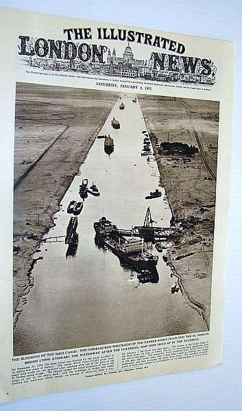 The Illustrated London (ILN) News, January 8, 1955 - Blocking of the Suez Canal, Bryant, Arthur; Burton, Maurice; Squire, Sir John; Falls, Cyril