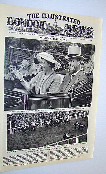 The Illustrated London (ILN) News, June 30, 1956 - International Victoria Cross (V.C.) Winners Assemble, Bryant, Arthur; Squire, Sir John; Falls, Cyril