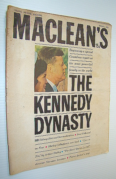 Image for Maclean's Magazine, January 5, 1963 *THE KENNEDY DYNASTY*