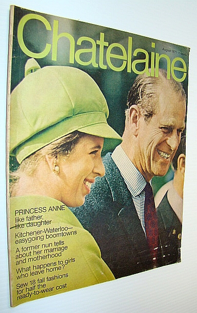 Image for Chatelaine Magazine, August 1971 - Princess Anne Cover Photo