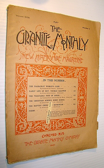 Image for The Granite Monthly - A New Hampshire Magazine of Literature, History, and State Progress, May 1901, Vol. XXX, No. 5 - The Nashaway Woman's Club