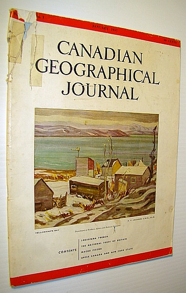 Canadian Geographical Journal, January, 1957 - Upper Canada and New York State, Barbeau, Marius; Owens, W.H.; Harrington, Richard; Williams, M.Y.