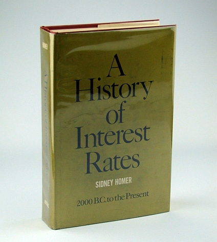 A History of Interest Rates, Homer, Sidney