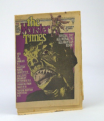 Image for The Monster Times - The World's First Newspaper of Horror, Sci-Fi and Fantasy, Volume 1, No.31 - March (Mar.) 1974  - Ray Bradbury Interview