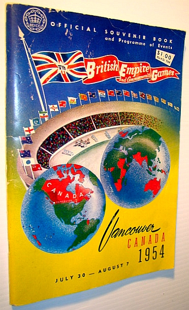 British Empire and Commonwealth Games - Official Souvenir Book and Programme of Events, Vancouver, Canada, July 30 - August 7, 1954, British Empire and Commonwealth Games, Canada (1954) Society