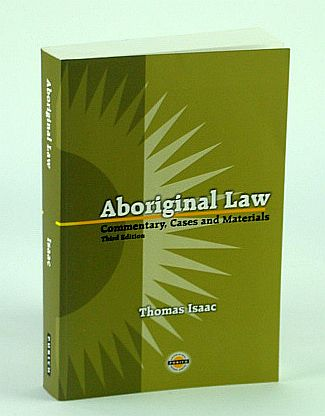 Image for Aboriginal Law: Commentary, Cases and Materials