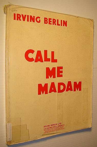 Image for Call Me Madam - Vocal Score