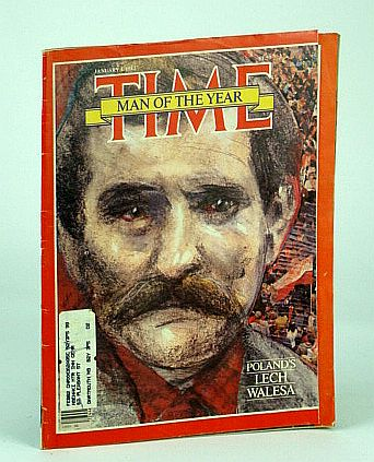 Image for Time Magazine (Canadian Edition), January (Jan.) 4, 1982 - Lech Welesa - Man of the Year - Cover Illustration