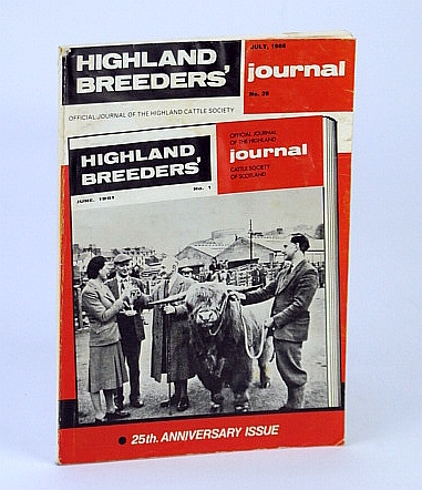 Highland Breeders' Journal - Official Journal of the Highland Cattle Society, July 1986, No. 29, Coutts, Captain J.B.; Bowser, Captain D.S.; Buchan, Angus;