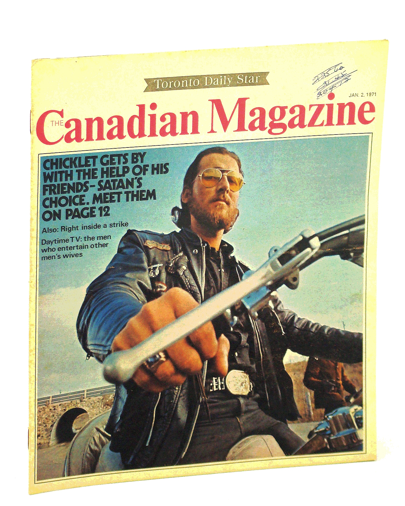 Image for The Canadian Magazine, 2 January [Jan.] 1971 - Meet the Satan's Choice Motorcycle Gang, Whose Members include Actor Art Hindle!