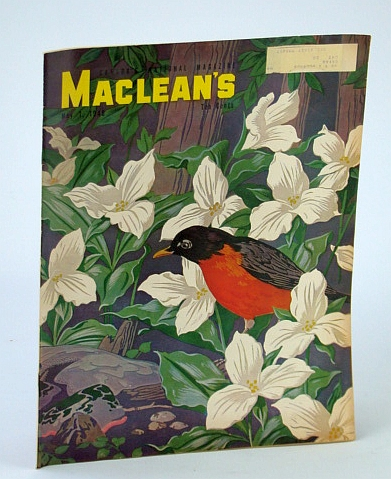 Maclean's Magazine, May 1, 1948  - A.J. Casson Cover Art, Kemp, Hugh; Berton, Pierre; Bannerman, James; Gordon, Arthur;