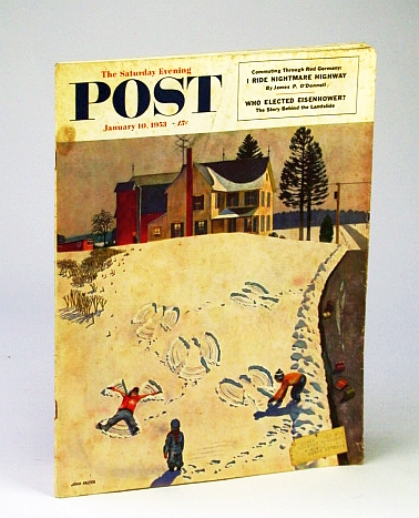 The Saturday Evening Post, January (Jan.) 10, 1953: Commuting Through Red Germany / Baseball's Biggeset Winner, Robin Roberts of the Phillies, Carson, R.; O'Donnell, J.; Perry, G.; Paston, H.; Lubell, S.; Smith, H.; Sherrod, R.