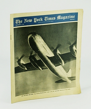 The New York Times Magazine, November (Nov.) 4, 1945 - Boeing Stratocruiser Cover Photo, Bolte, Charles; Jones, George; Josephs, Ray; et al