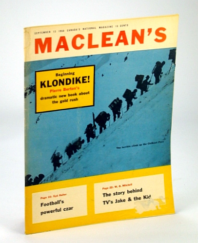 Image for Maclean's - Canada's National Magazine, September (Sept.) 13, 1958 - Klondike!