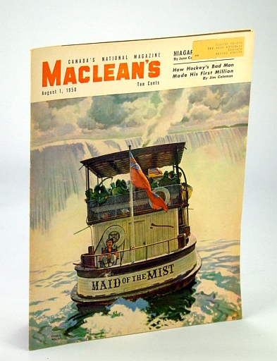 Maclean's - Canada's National Magazine, 1 August (Aug.), 1950 - Red Dutton / Joe Palooka / Rev. Lester Burry, Dugan, J.; Bodsworth, F.; Callwood, J.; Coleman, J.; Wuoria, Eva-Lis; Delaplante, Don; Edgar, James; Anglin, G. Buckler, E.; et al