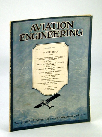 Image for Aviation Engineering (Magazine) - The Technical Journal of the Aeronautical Industry, October (Oct.) 1929 - The Junkers Aero Diesel / Boeing Production Methods