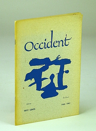 MARTIN, WENDY: EDITOR - Occident, Fall 1961