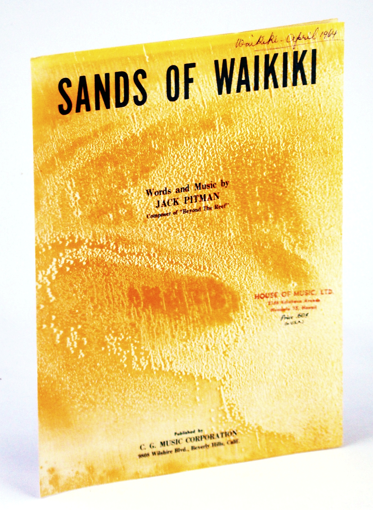 Image for Sands of Waikiki: Sheet Music for Voice and Piano with Chords