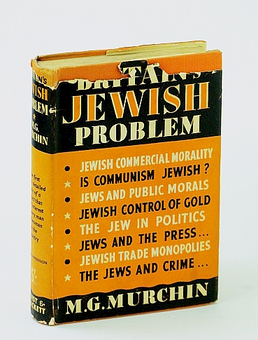 Britain's Jewish Problem, Murchin, M.G. (Pseudonym)