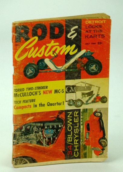 Rod & Custom Magazine, July 1960 - Special Go-Kart Issue with Many Ads, Wineland, Lynn: Editor
