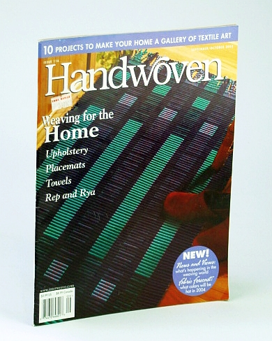 Image for Handwoven (Hand Woven) Magazine, September (Sept.) / October (Oct.) 2003 - 10 Projects to Make Your Home a Gallery of textile Art