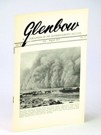 Image for Glenbow, July - August (Aug.) 1971, Vol. 4, No. 4 - Cover Photo of Dust Storm at Pearce, Alberta