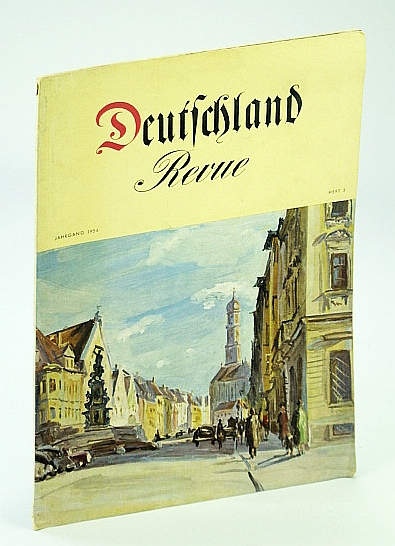 Deutschland Revue (Journal/Magazine of the German Center For Tourism) Jahrgang 1954, Heft 3, Baumann, Dr. Hans (Chefredakteur)