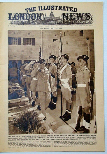 The Illustrated London News, Saturday, May 29, 1948: End of the British Mandate in Palestine, Bryant, Arthur; Squire, Sir John; Falls, Cyril; et al