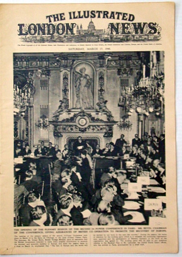 Image for The Illustrated London News, Saturday, March 27, 1948: Signing of the Western European Pact in Brussels