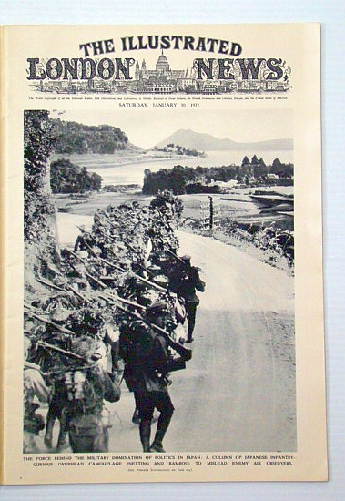 The Illustrated London News, January (Jan.) 30, 1937: Japanese Camouflage / 5500 tons of Gold for Fort Knox, Bryant, Arthur; Quaritch, H.G.; Et al
