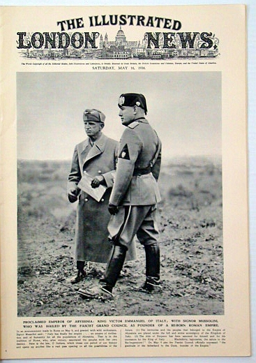 The Illustrated London News, May 16, 1936: Mussolini (Il Duce) Cover Photo, Chesterton, G. K.; Et al