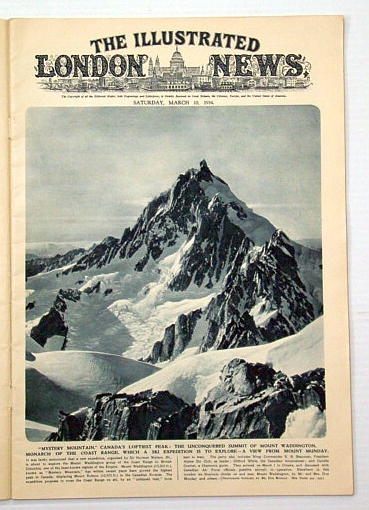 The Illustrated London News, March (Mar.) 10, 1934: Canada's Mount Waddington, Chesterton, G. K.; Et al