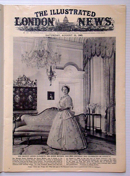 The Illustrated London News, August (Aug.) 10, 1963 - Photos of Early Dubai, Bryant, Arthur; Falls, Cyril; et al
