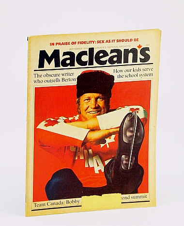 Image for Maclean's, Canada's National Magazine, September (Sept.) 1974 - Bobby Hull Cover Photo