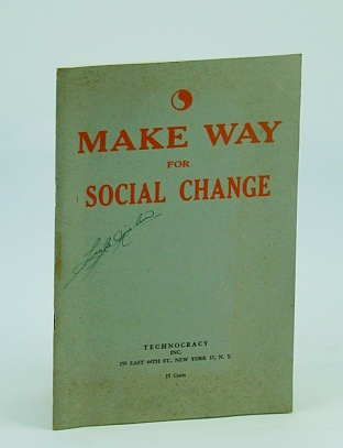 Image for Make Way for Social Change: Three Articles By Wilton Ivie