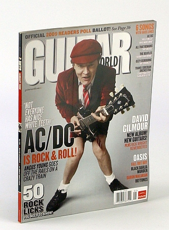 Guitar World Magazine, January (Jan.) 2009: Angus Young (of AC/DC) Cover Photo, Multiple Contributors