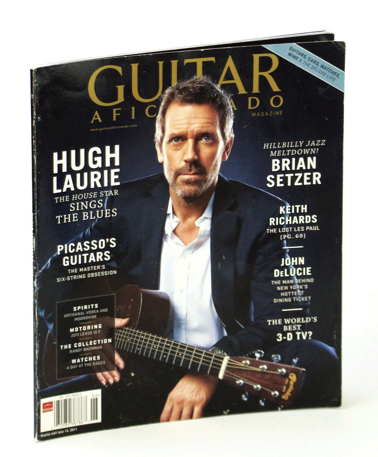 Image for Guitar Aficionado Magazine, May/June 2011-Hugh Laurie-The'House' Star Sings the Blues.