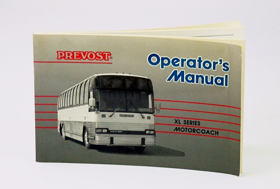 Image for Prevost XL Series Motorcoach (Bus) Operator's Manual
