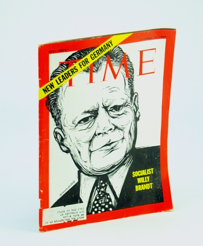 Time Magazine October 10 1969  New Leaders for Germany   Socialist Willy Brandt, Time Magazine