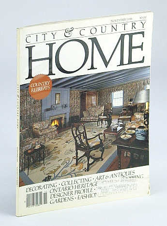Image for City and Country Home Magazine, November (Nov.) 1985 - Country Retreats / Architect Jack Diamond / Susan Watson's Rooftop Grove