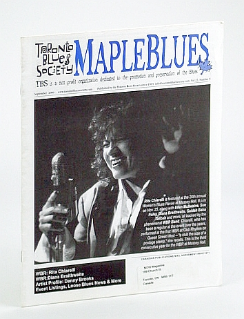 Image for Maple Blues Magazine, September (Sept.) 2006 -  Rita Chiarelli Cover
