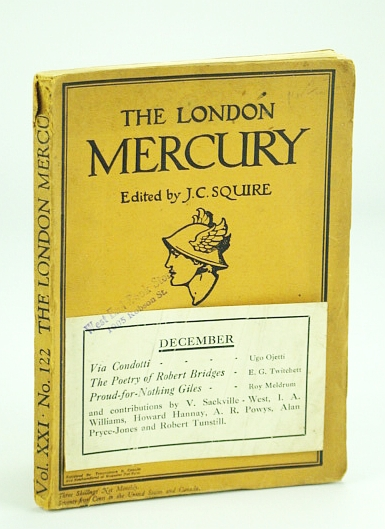 Image for The London Mercury, December (Dec.) 1929, Volume XXI, No. 122