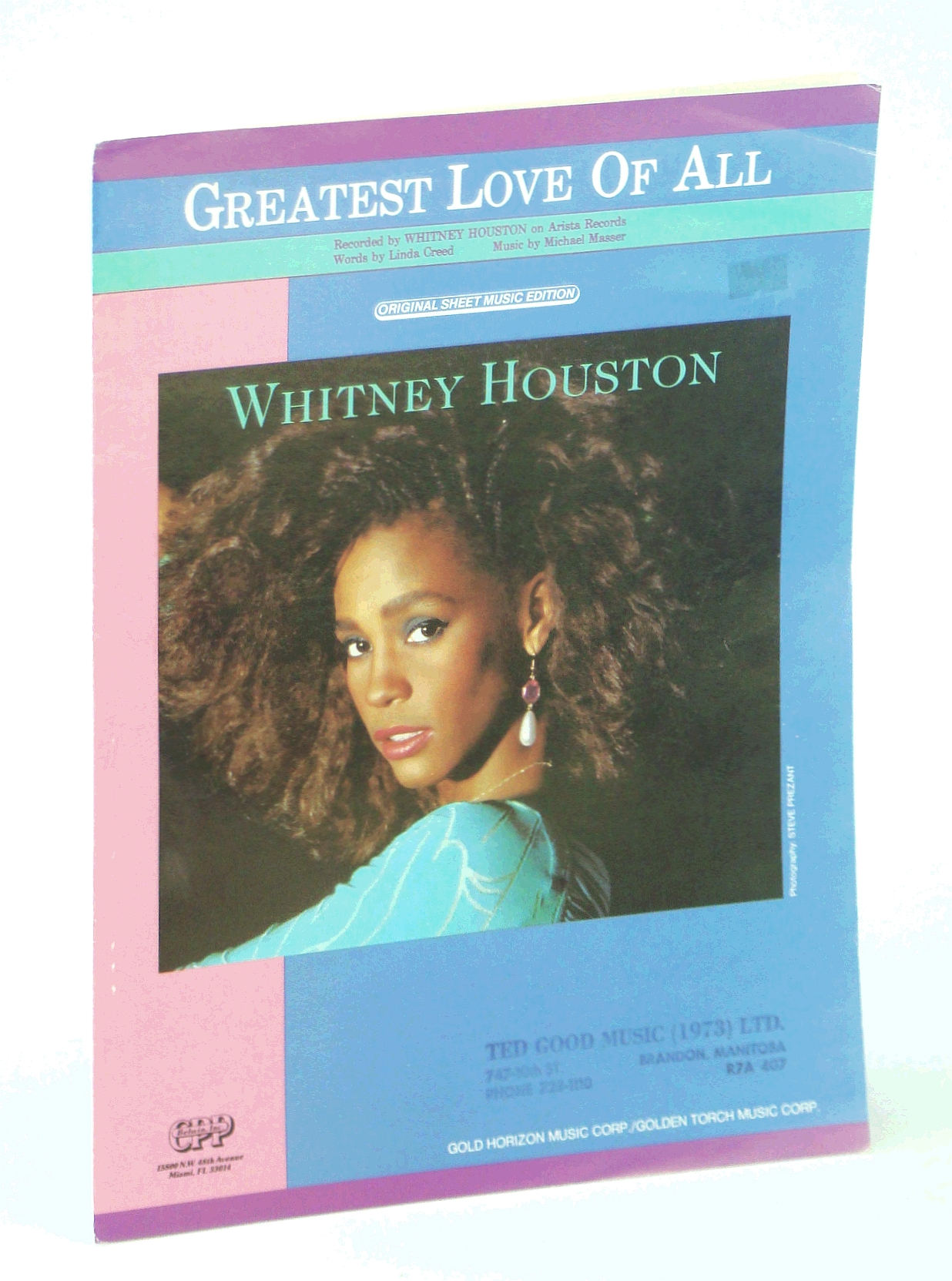 Image for Greatest Love Of All [Sheet Music, Whitney Houston Cover]