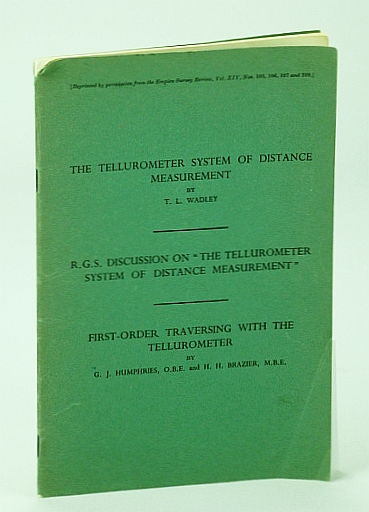 """Image for The Tellurometer System of Distance Measurement / R.G.S. Discussion on """"The Tellurometer System of Distance Measurement"""" / First-Order Traversing with the Tellurometer"""