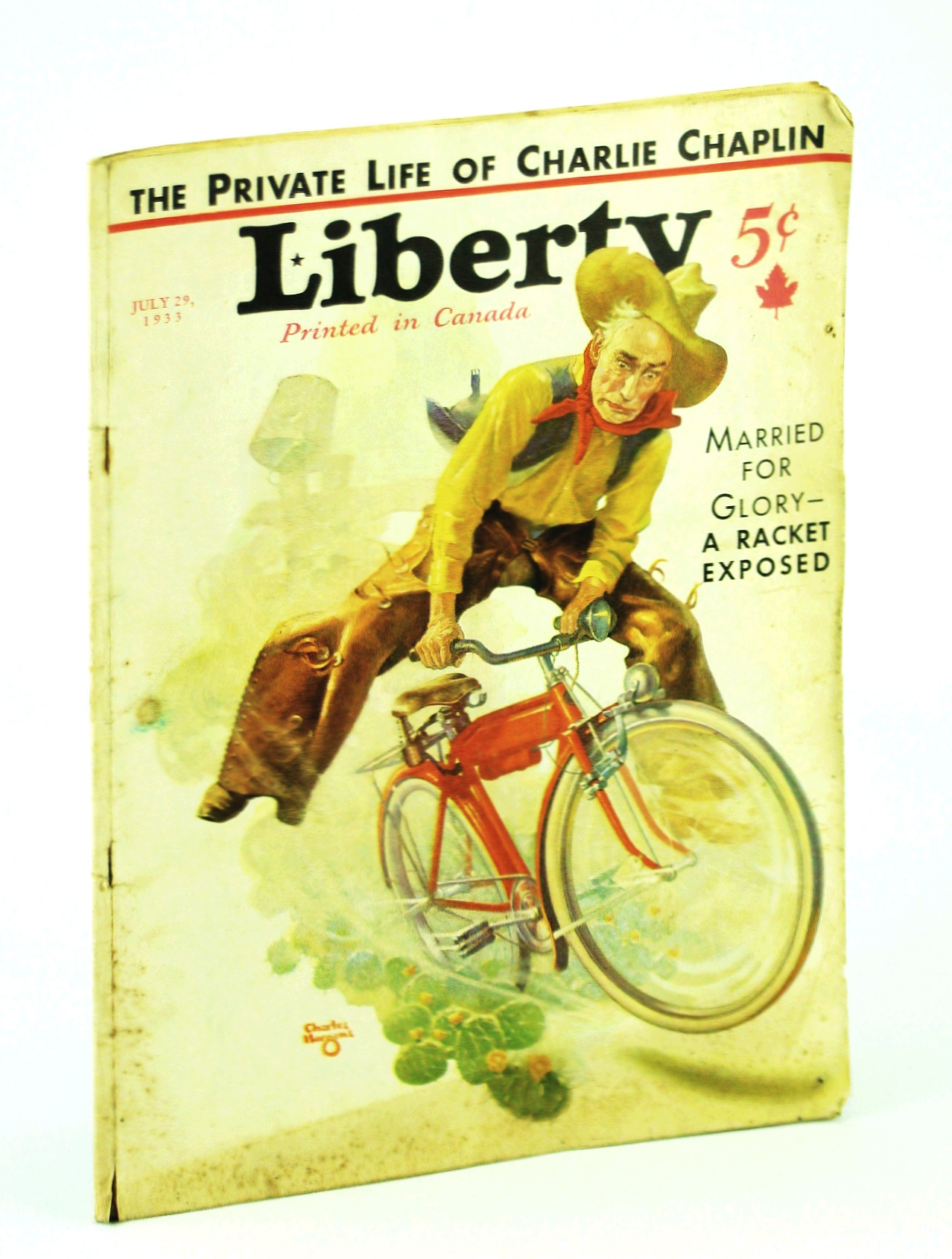 Image for Liberty Magazine, July 29, 1933, Vol. 10, No. 30: The Private Life of Charlie Chaplin