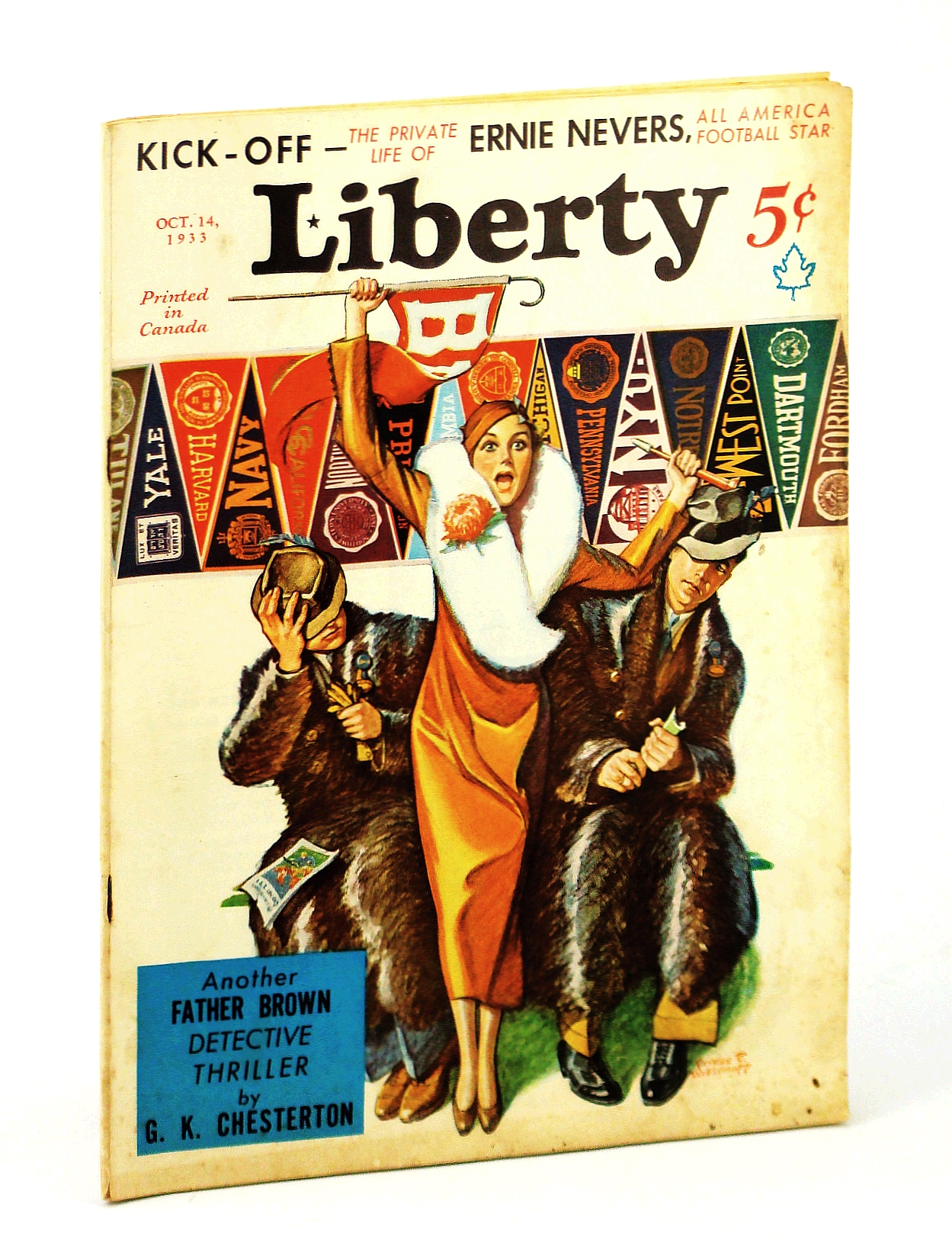 Image for Liberty Magazine, October [Oct.] 14, 1933, Vol. 10, No. 41 - The Private Life of Football Star Ernie Nevers