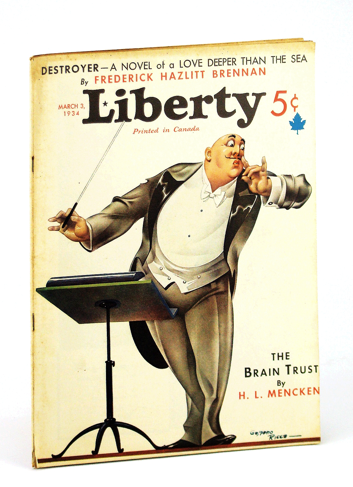 Image for Liberty Magazine, March [Mar.] 3, 1934, Vol. 11, No. 9 -  H.L. Menchen on 'The Brain Trust'