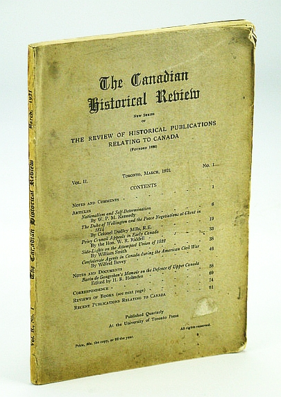 Image for The Canadian Historical Review, March (Mar.) 1921, Vol. II, No. 1 - Confederate Agents in Canada During the Civil War