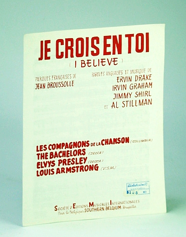 Image for Je Crois En Toi (I Believe) - Sheet Music for Piano and Voice